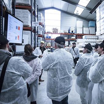 Visite de l'usine à l'occasion d'une formation Frayssinet sur les engrais et fertilisants